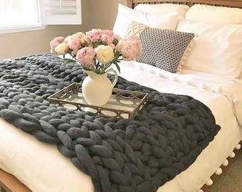 chunky knit blanket cable knit throw chunky knit throw chunky knit throw - Cable Knit Throw