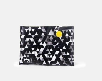 Portafoglio donna/uomo in pvc con texture disegnata - Wallet made of