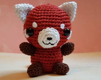 Amigurumi Roter Panda/ Red Panda versandfertig / ready to ship