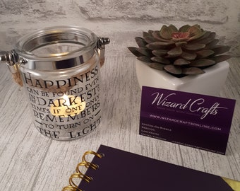 Happiness Can be Found Quote Tealight