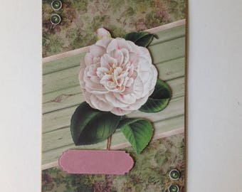 Handmade card, 3D, on the theme of flowers all occasions