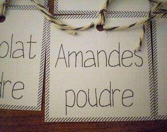 12 gift tags for the kitchen black and white
