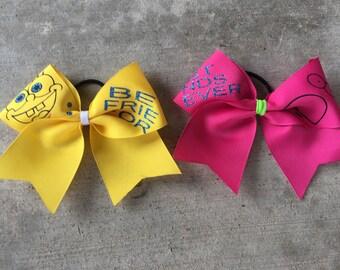 Spongebob best friend cheer bow set