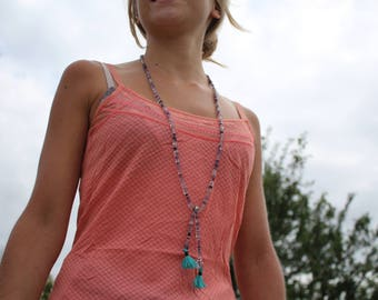 """Crystal healing jewelry, necklace """"run"""""""