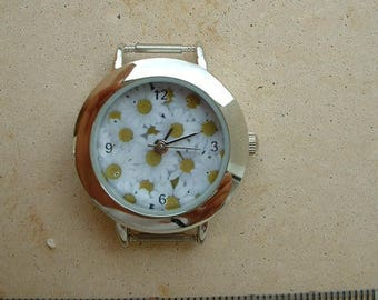 WATCH FACE FOR CREATION ROUND BOTTOM DAISY PATTERN _