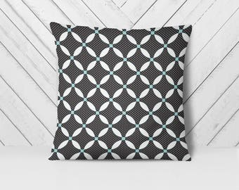 Black White Pillow, Modern Pillow Cover, Monochrome Pillow, Black Pillow, Contemporary Pillow, Geometric Pillow, Throw Pillows