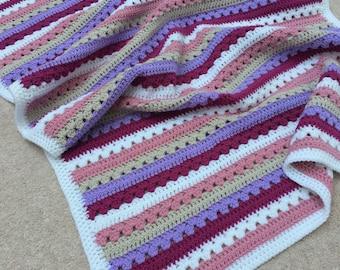 Handmade Girls Baby Blanket