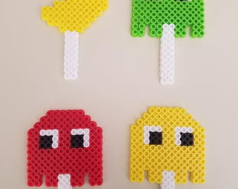 Pacman Cake Toppers - Set of 4