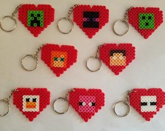 Minecraft Valentine Keychains - Set of 8