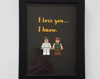 I love you I know Hans solo and princess Leia quote star wars present for boyfriend girlfriend husband wife Valentine birthday present
