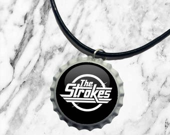 The Strokes - Bottle top charm necklace