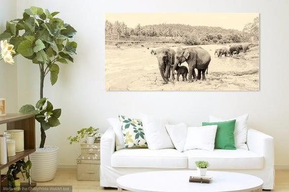 RIVER ELEPHANTS 4. Elephants Print, Sri Lanka, Giclee Print, Limited Edition Print, Photographic Print