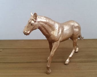 Gold Horse Cake Topper, Horse Theme Party Decor, Horse Theme Table Decor