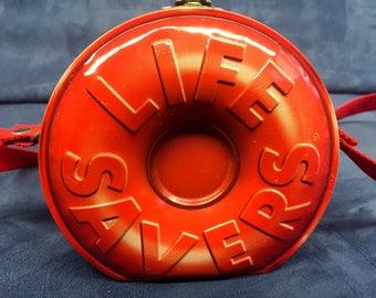 Vintage Rare Red Lifesavers Tin Purse