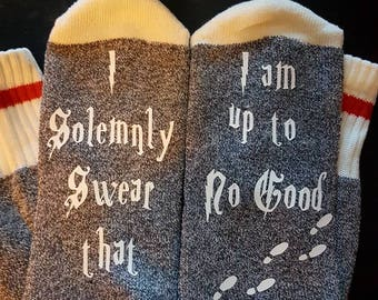 I solemnly swear that I am up to no good socks