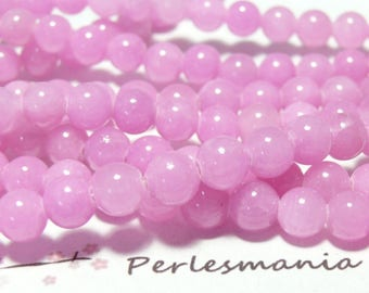10 jade colored pink color 8mm