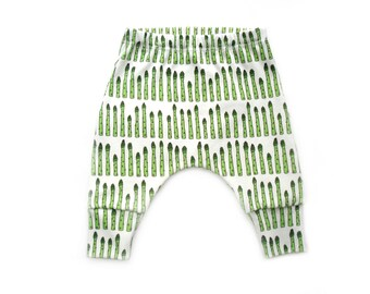 Harem Pants Size 1-3 months - length 24 inches (62 cm) - ORGANIC Baby clothes boys pants baby pants organic cotton kids clothes