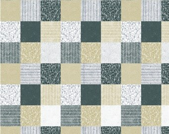 "Moda ""Catnip"" by Gingiber ~ Catnip Patchwork ~ White 48232 11 ~ Multicolored Patchwork ~ Half Yard Increments"