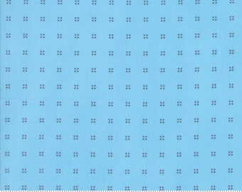 "Moda ""Hey Dot"" by Zen Chic ~ SPRINKLES ~ 1608 16 Blue ~ Half Yard Increments"