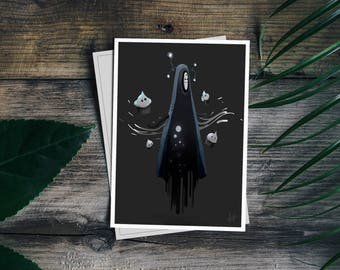 Ghost postcard with envelope