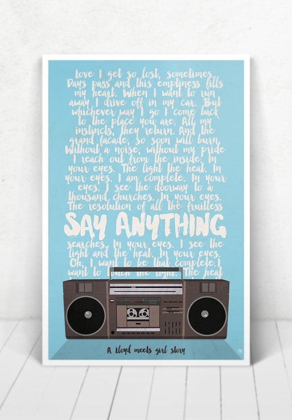 Say Anything Movie Poster illustration [Say Anything Movie Poster / Say Anything]