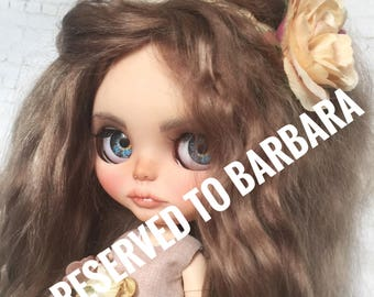 RESERVED TO BARBARA, final payment - Custom Blythe  ooak doll Matilda, collectible doll with mohair weft
