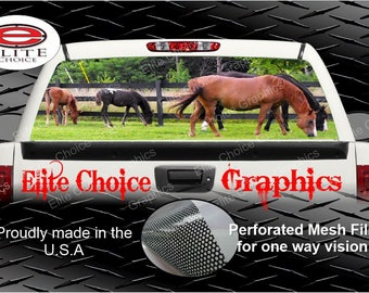 Horse Rear Window Graphic Tint Decal Sticker Truck SUV Van Car