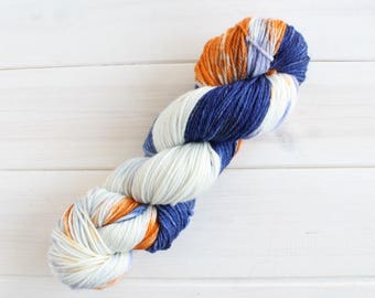 Bookish - Ravenclaw themed yarn - geeky yarn - indie dyed yarn - variegated yarn - speckled yarn - harry potter themed yarn - knitting kit