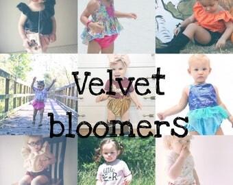 Velvet bloomers