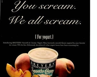 1997 Breyers Yogurt  ice cream vintage magazine ad 1706