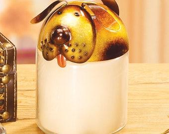 Decorative And Beautiful Dog Jar Topper