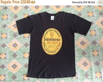10% Off 15 Percent Off with Coupon Code!!! Vintage 90s Guinness Ireland Black Shirt