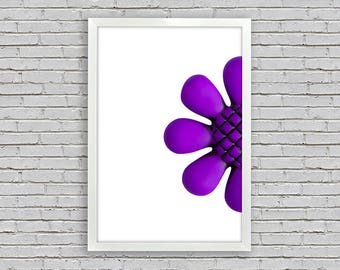 purple flower print,4 sizes included,Instant download,photography,printable,wall art,digital,canvas,print,