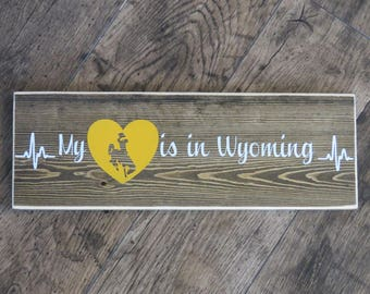 My Heart Is In Wyoming - University of Wyoming - Officially Licensed UW Product