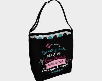 """Little raccoon"" shoulder bag for teacher"