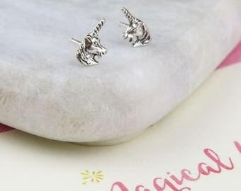 Magical Unicorn Earrings - Sterling Silver Unicorn Earrings - Gift for Friend - Friendship Jewellery - Unicorn Stud Earrings - Gift for Her