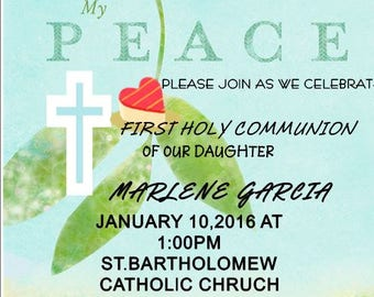 First Holy Communion invitation party