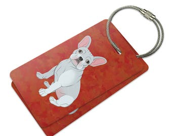 French Bulldog Suitcase Bag Id Luggage Tag Set