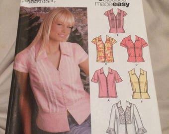 Simplicity women's blouse pattern