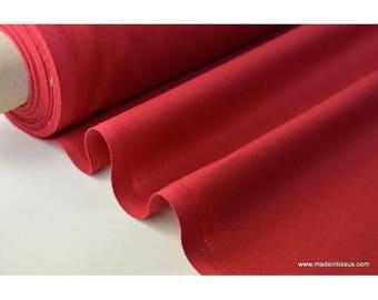 Tissu cretonne coton rouge hermès par 50cm