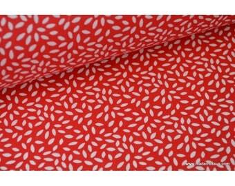 Tissu coton imprimé dessin grains de blé rouge x50cm