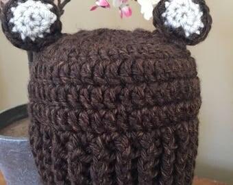 Baby Bear Hat - Newborn Sized