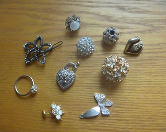 diamante / rhinestone less than perfect pieces. 10