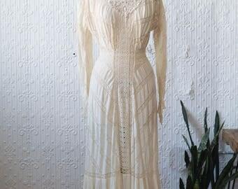 Edwardian Antique Lace Gown