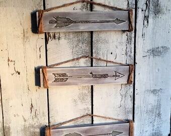 Arrows, Tribal Arrows, Engraved Signs, Arrow Signs, Nursery Decor, Home Decor