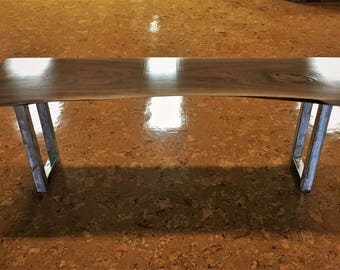 Black Walnut Live Edge Console Table