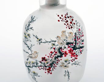 Chinese Handcrafted. Reversed Illustrated Snuff Bottle