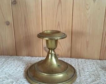 Vintage brass candlestick holder
