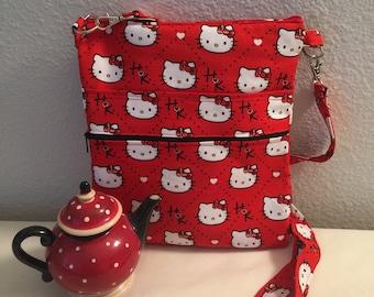Red Hello Kitty Cross Body Bag