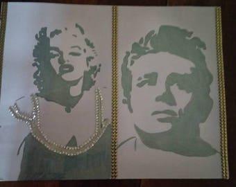 Marylin monroe and James Dean designs